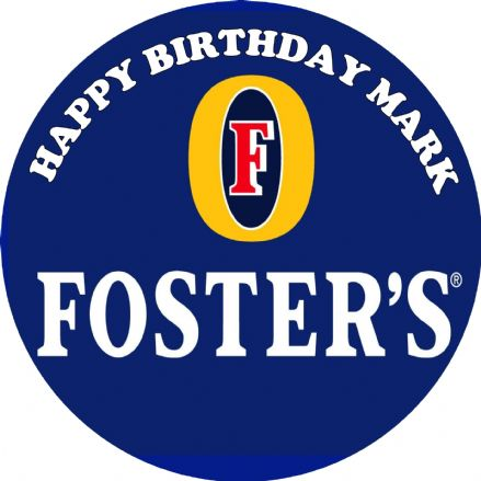 Fosters Theme Edible Cake Topper